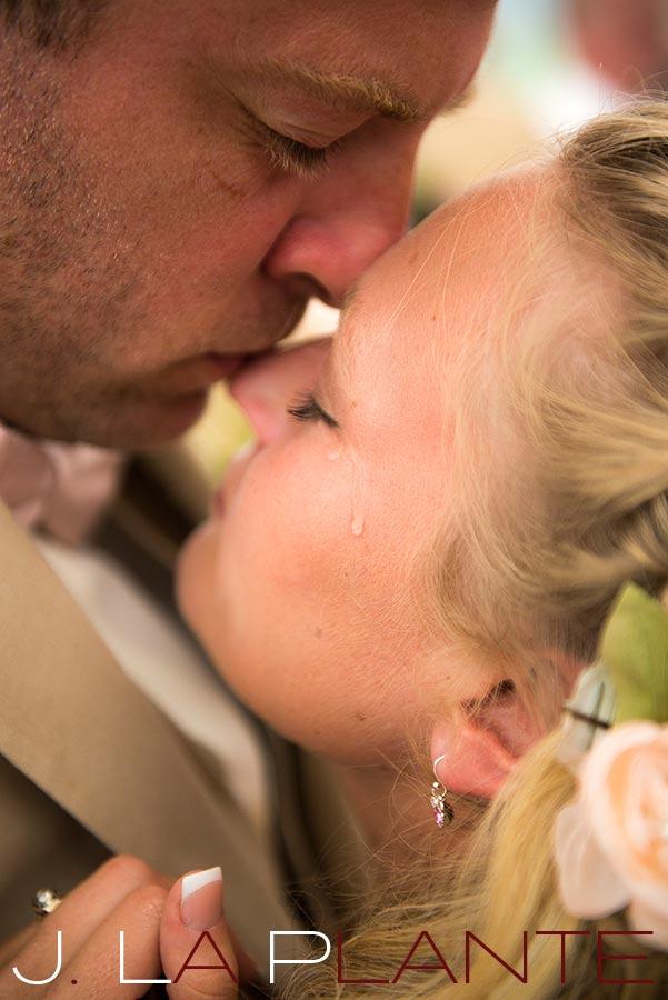 J. LaPlante Photo | Destination Wedding Photography | Maine wedding | Groom kissing bride