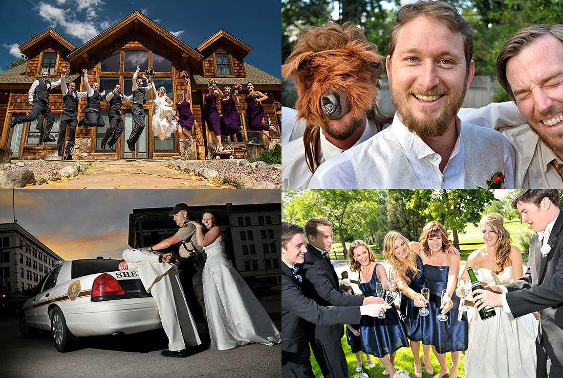 J. LaPlante | Colorado Wedding Photography | Goofy wedding photos