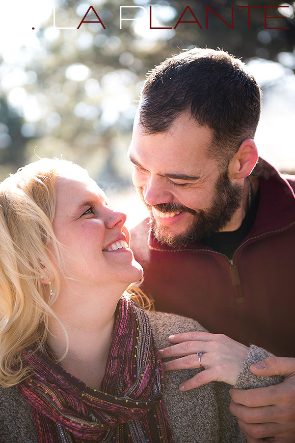 Purple engagement ring | Boulder winter engagement photos | J. La Plante Photo