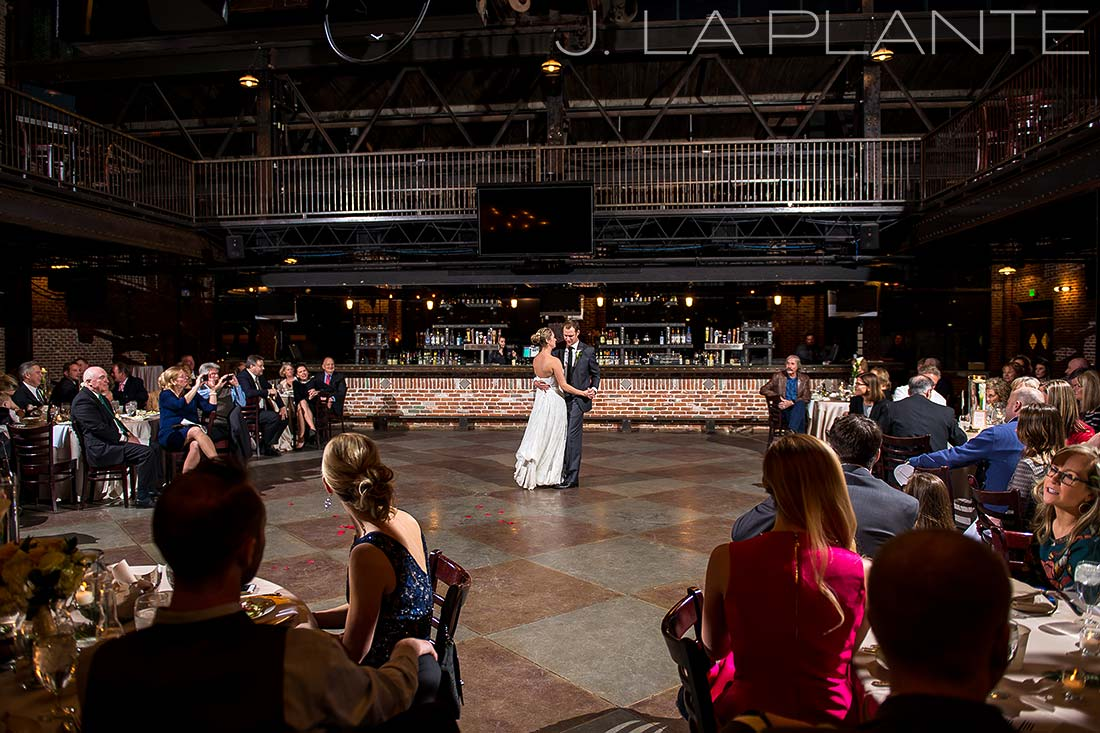 J. LaPlante Photo | Denver Wedding Photographer | Mile High Station Wedding | First Dance Photo