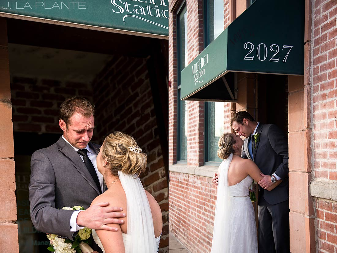 J. LaPlante Photo | Denver Wedding Photographer | Mile High Station Wedding | First Look