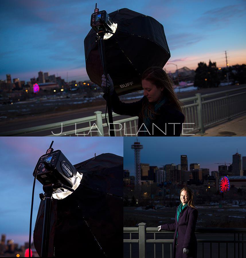 J. LaPlante Photo | Denver Wedding Photographer | Denver Portrait Shoot | Location Lighting