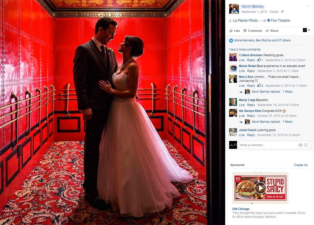 J. LaPlante Photo   Detroit Wedding Photographers   Fox Theatre Wedding   Bride And Groom Portrait