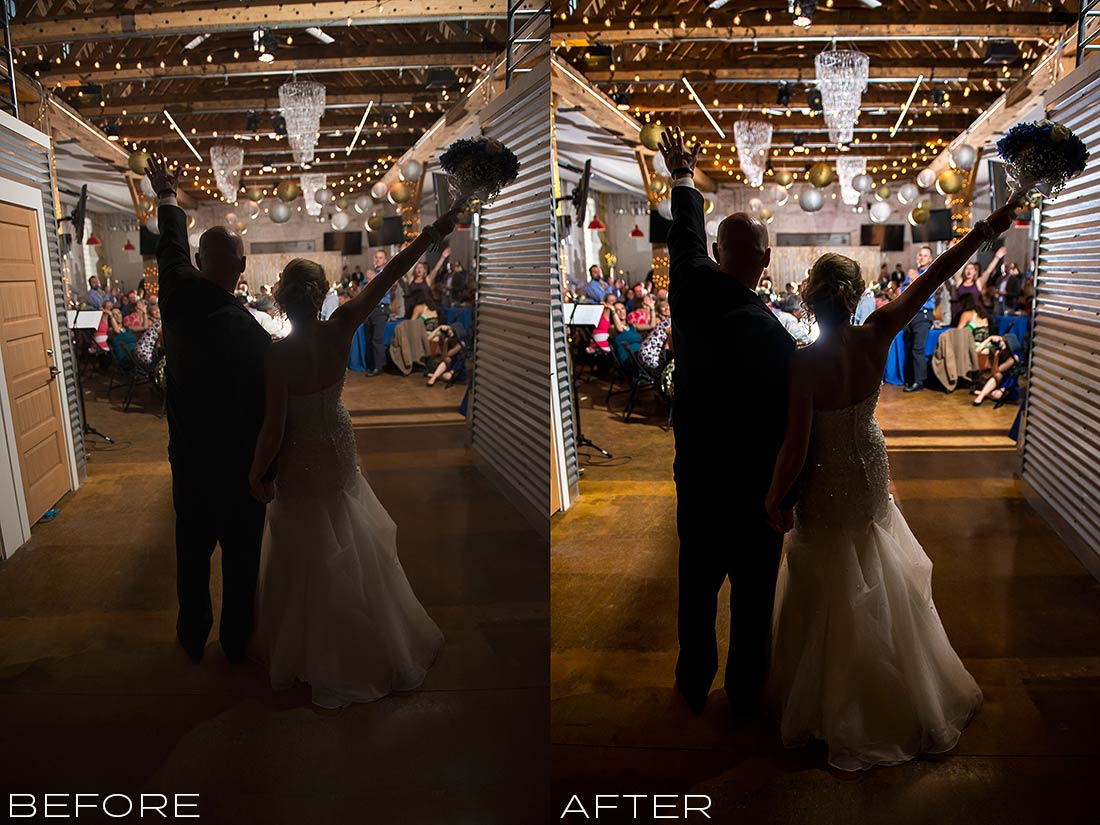 J. LaPlante Photo | Denver Wedding Photographer | Studios At Overland Crossing Wedding | Bride And Groom Entrance
