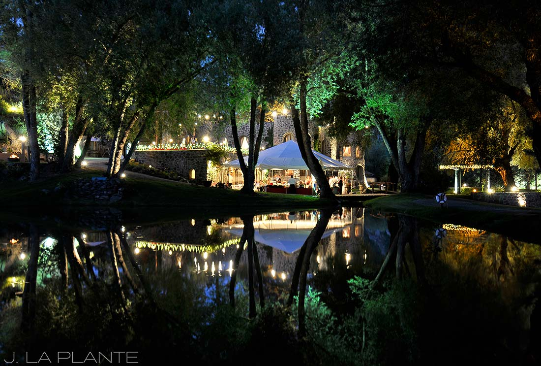 J. La Plante Photo | Evergreen Wedding Photographer | Dunafon Castle Wedding | Castle Reflected in Moat