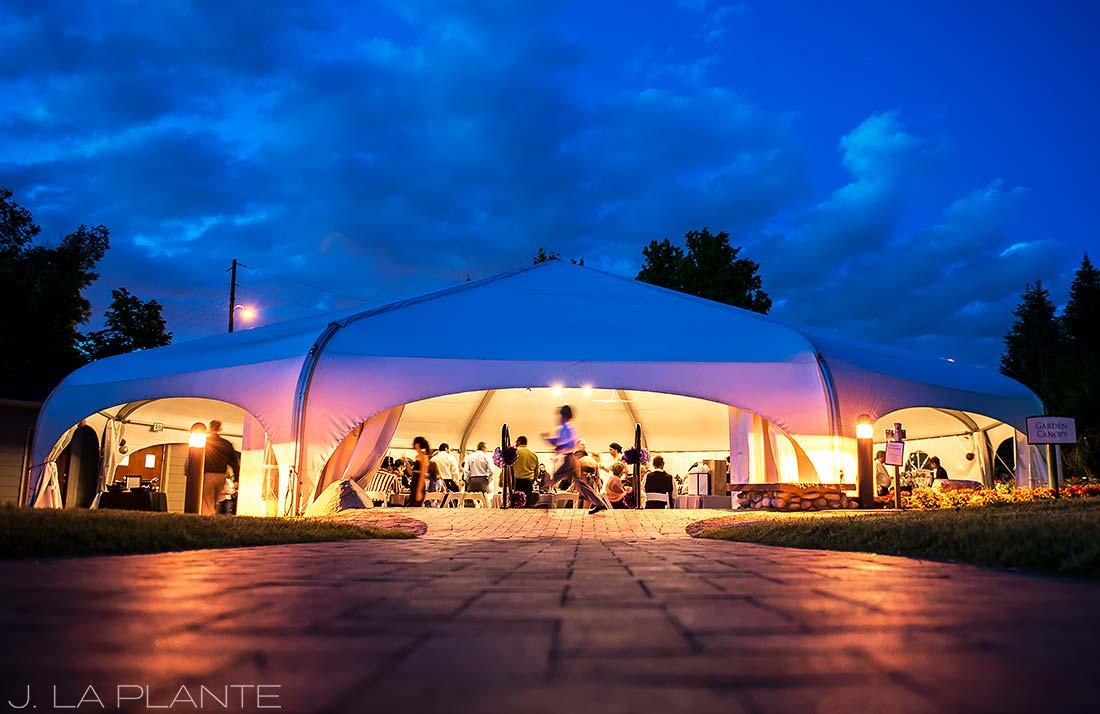 J. La Plante Photo | Denver Wedding Photographer | Hudson Gardens Wedding | Wedding Reception Tent