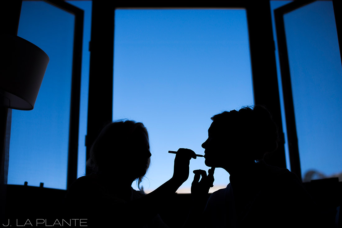 J. La Plante Photo | Beaver Creek Wedding Photographer | Beaver Creek Lodge Wedding | Bride Getting Makeup Done