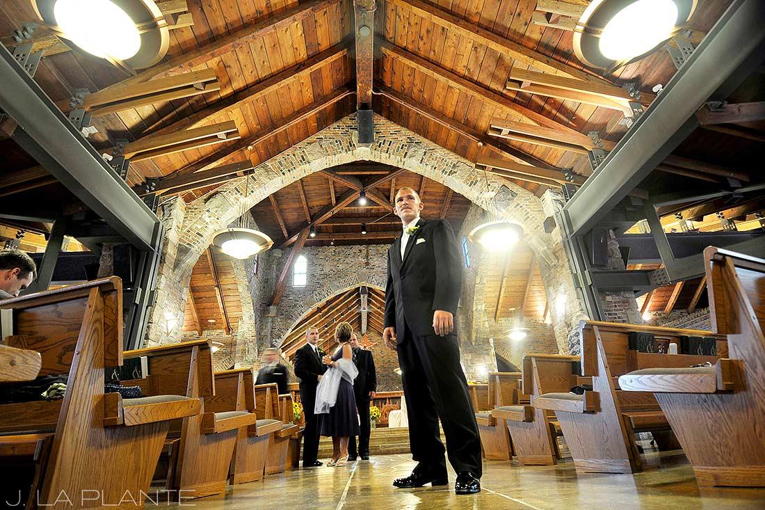 J. La Plante Photo | Detroit Wedding Photographer | Lake Orion Wedding | Catholic Church Wedding | Groom Waiting For Bride