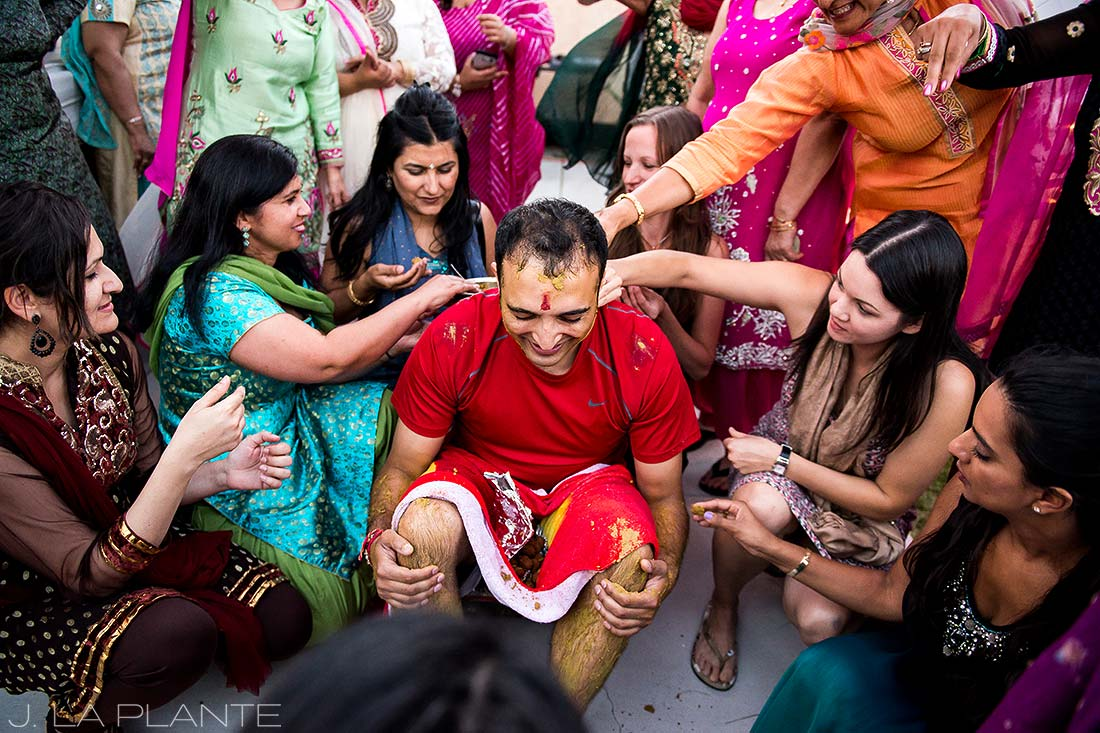 J. La Plante Photo | Pueblo Wedding Photographer | Hindu Wedding | Groom Getting Ready Batna