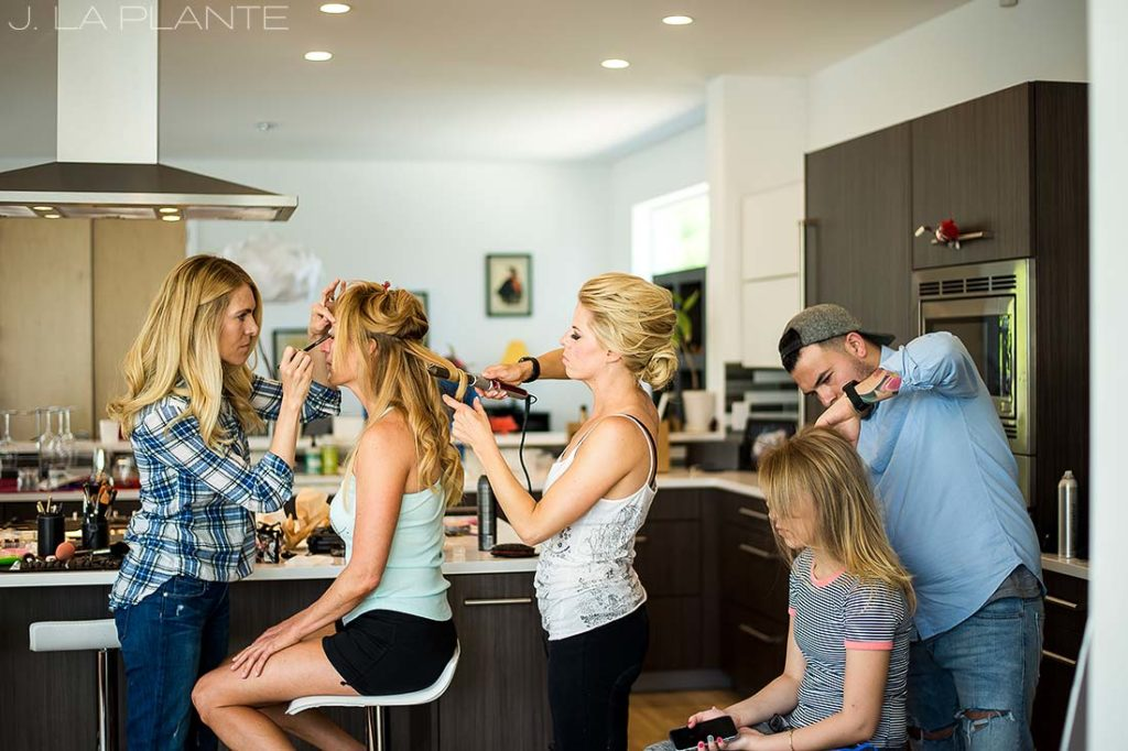 J. La Plante Photo | Denver Wedding Photographer | Sloans Lake Denver Wedding | Bridesmaids Getting Ready