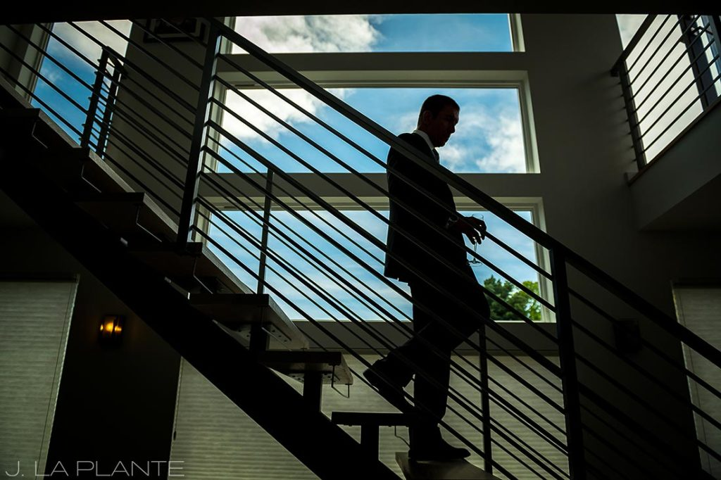 J. La Plante Photo | Denver Wedding Photographer | Sloan Lake Denver Wedding | Groom Leaving House