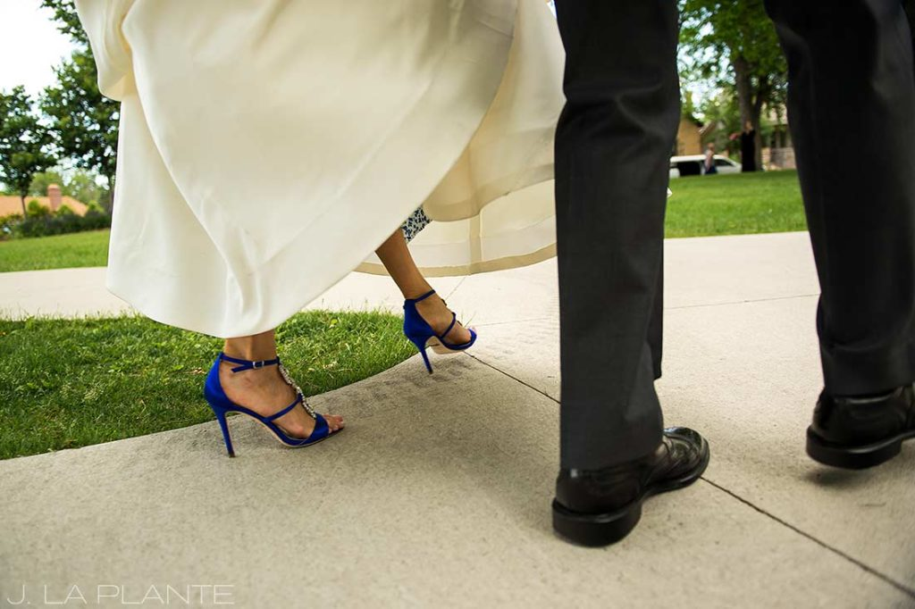 J. La Plante Photo | Denver Wedding Photographer | Sloan's Lake Park Wedding | Brides Shoes