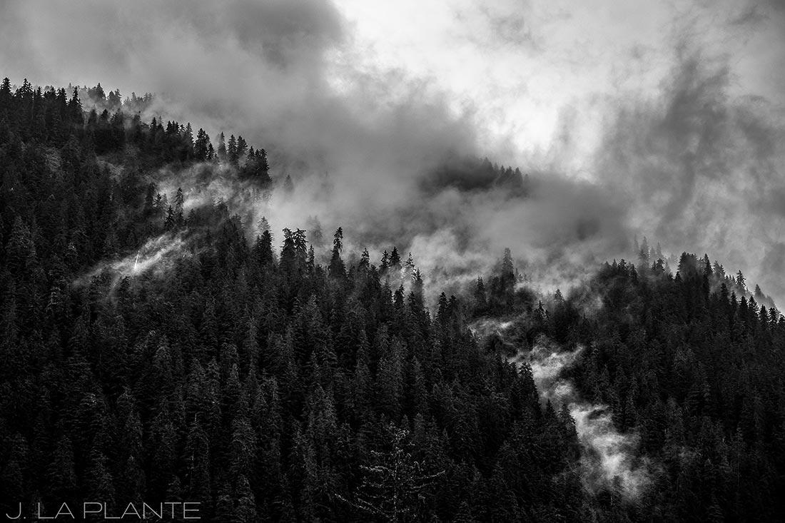 misty mountains surrounding juneau