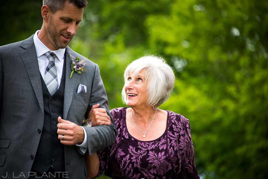 J. La Plante Photo | Denver Wedding Photographer | Chatfield Botanic Gardens Wedding | Groom with Mother