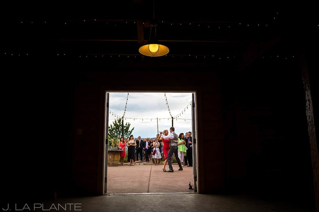 J. La Plante Photo | Denver Wedding Photographer | Chatfield Botanic Gardens Wedding | Brides and Groom Doing the Tango