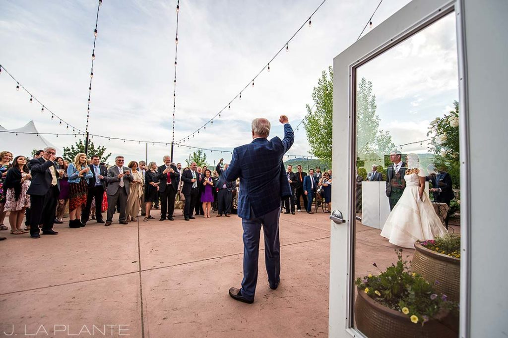 J. La Plante Photo | Denver Wedding Photographer | Chatfield Botanic Gardens Wedding | Father of the Groom Speech