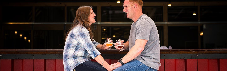 J. La Plante Photo | Boulder Wedding Photographer | Boulder Engagement | Bride and Groom at Brewery