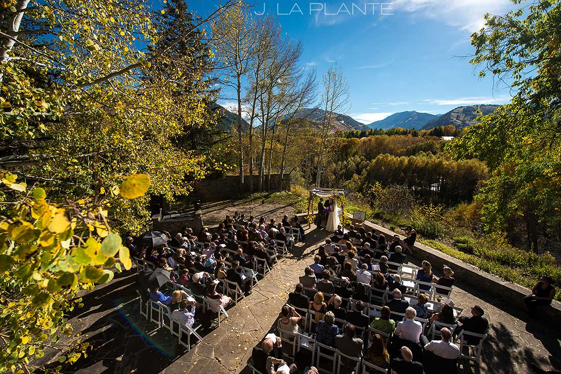 J. La Plante Photo | Aspen Wedding Photographer | Aspen Meadows Resort Wedding | Fall Foliage Wedding Ceremony