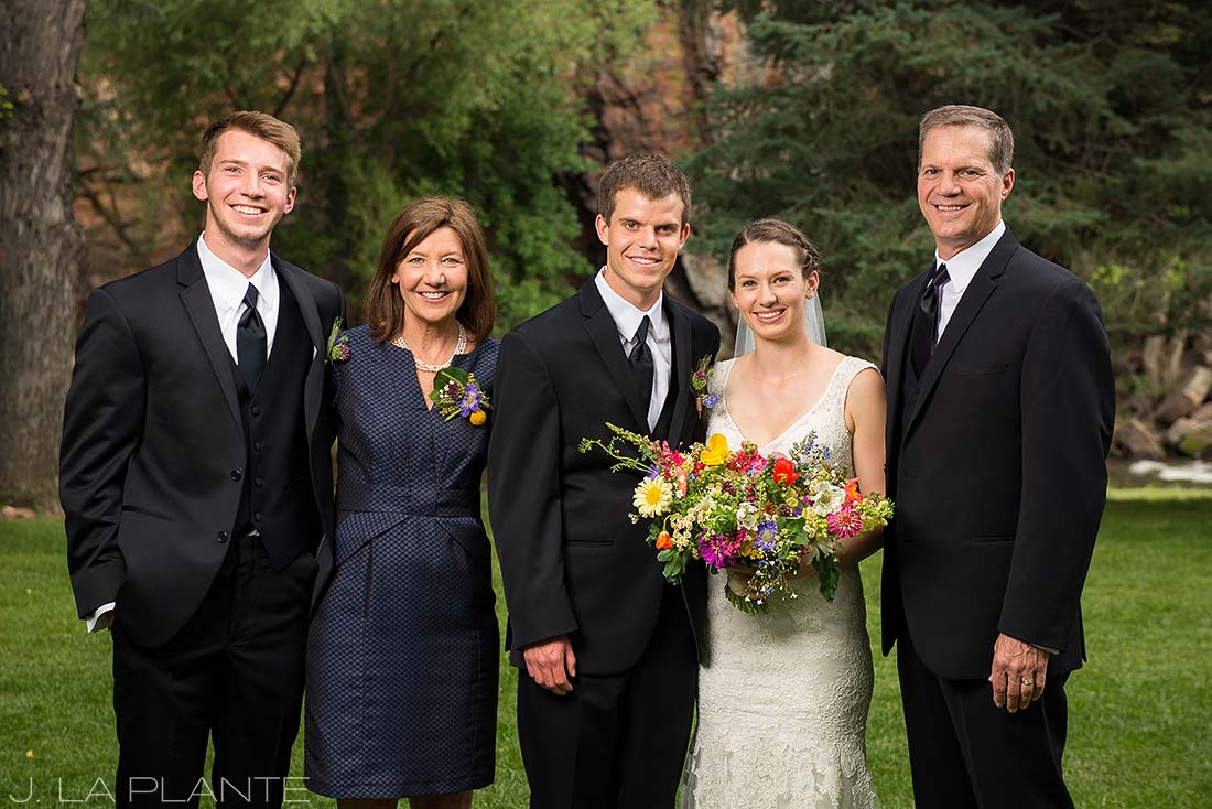 J. La Plante Photo | Boulder Wedding Photographer | River Bend Wedding | Family Portrait