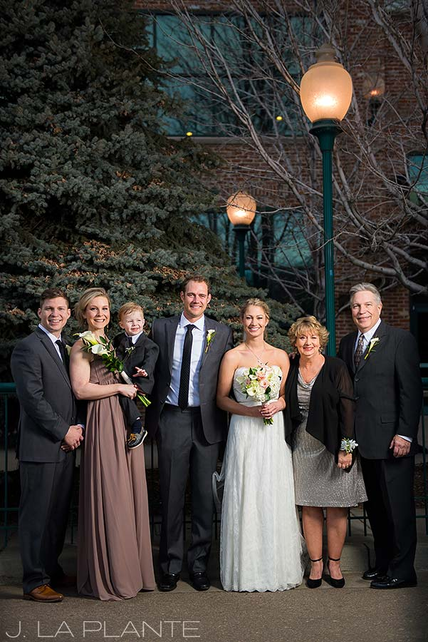 J. La Plante Photo | Denver Wedding Photographer | Mile High Station Wedding | Family Portrait