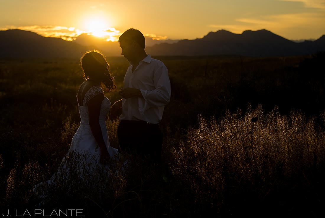 J. LaPlante Photo | Denver Wedding Photographer | Standley Lake Wedding | Sunset Wedding Photo