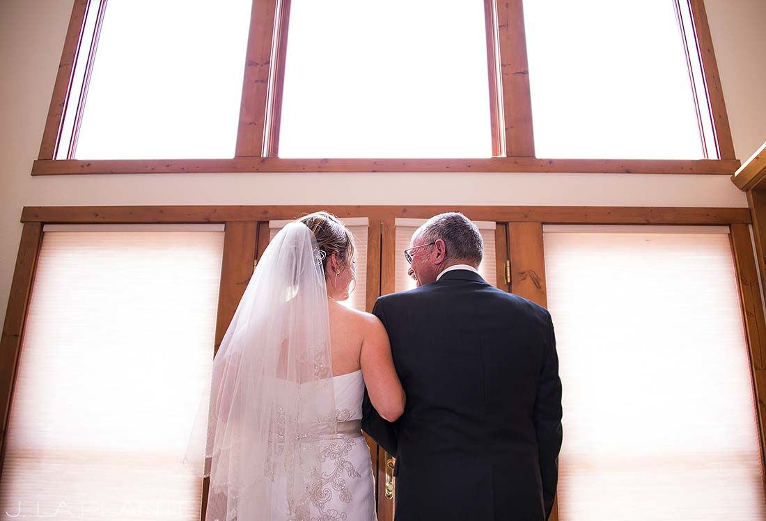 J. La Plante Photo | Colorado Wedding Photographer | Twin Lakes Wedding | Bride with Father