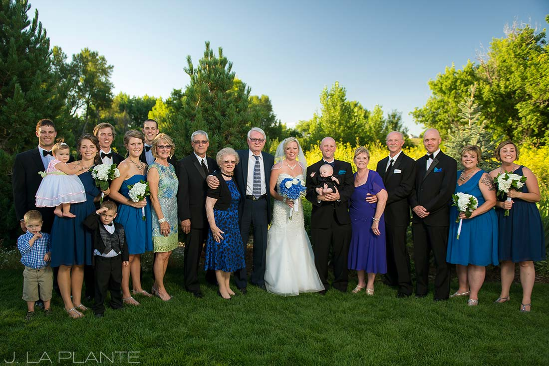 J. La Plante Photo | Denver Wedding Photographer | Chatfield Botanic Gardens Wedding | Family Portrait