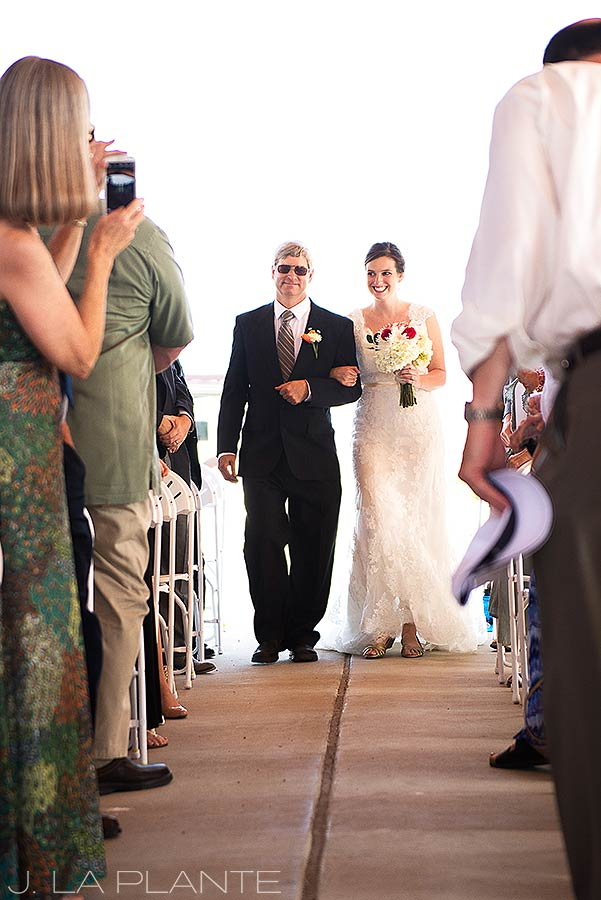J. La Plante Photo | Colorado Wedding Photographer | Golden Wedding | Father Walking Bride Down Aisle