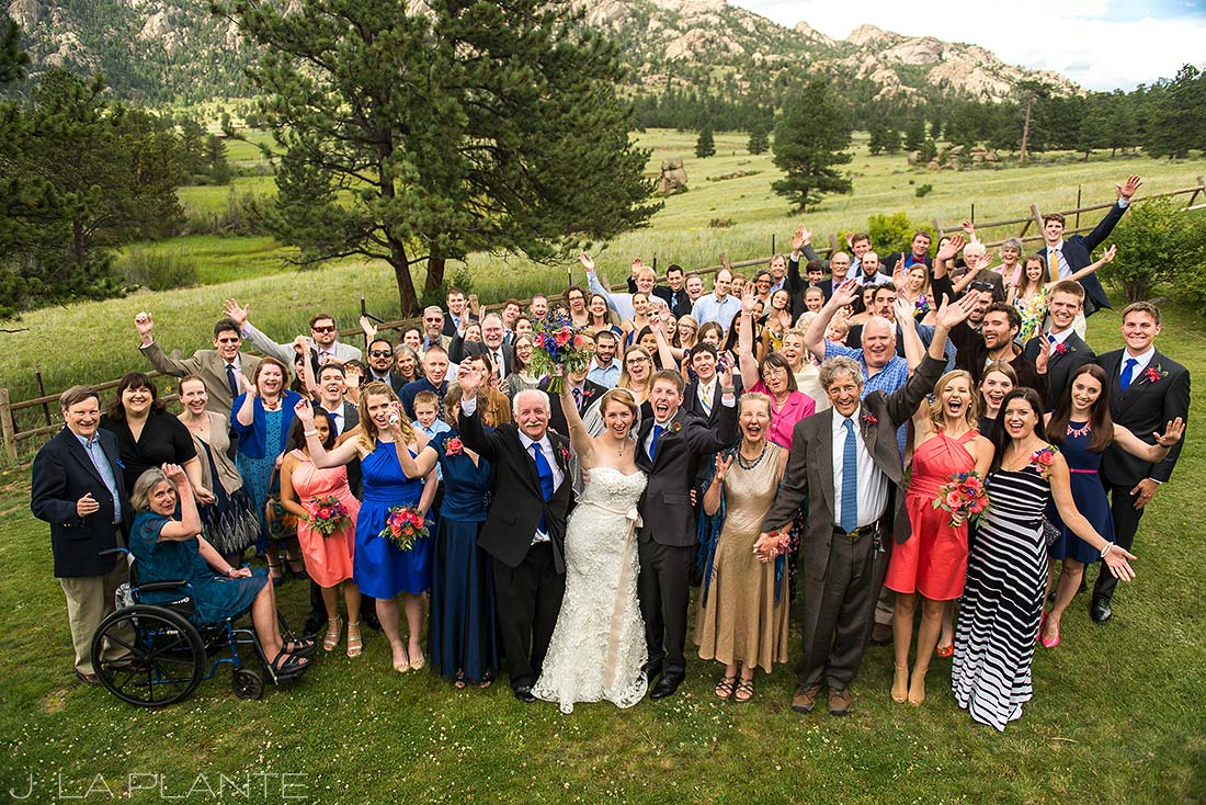 J. La Plante Photo | Estes Park Wedding Photographer | Black Canyon Inn Wedding | Family Portrait