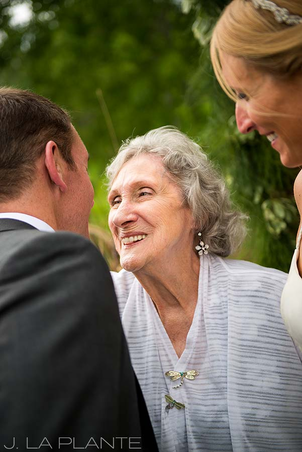 J. La Plante Photo | Denver Wedding Photographer | Chatfield Botanic Gardens Wedding | Groom with Grandmother