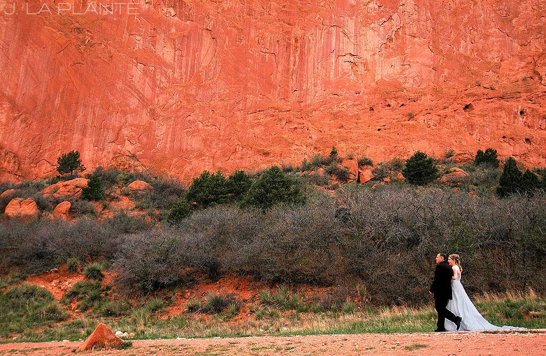 J. La Plante Photo | Colorado Springs Wedding Photographer | Garden of the Gods Wedding | Father Walking Bride Down Aisle