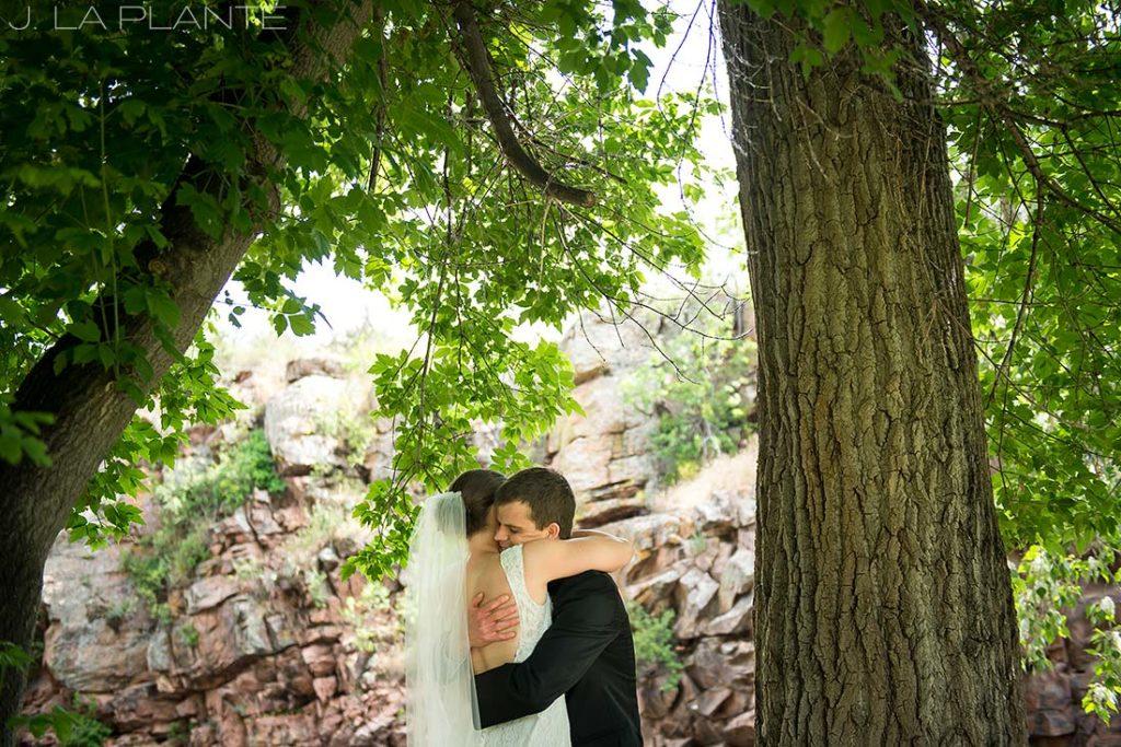 J. LaPlante Photo | Boulder Wedding Photographers | River Bend Wedding | First Look