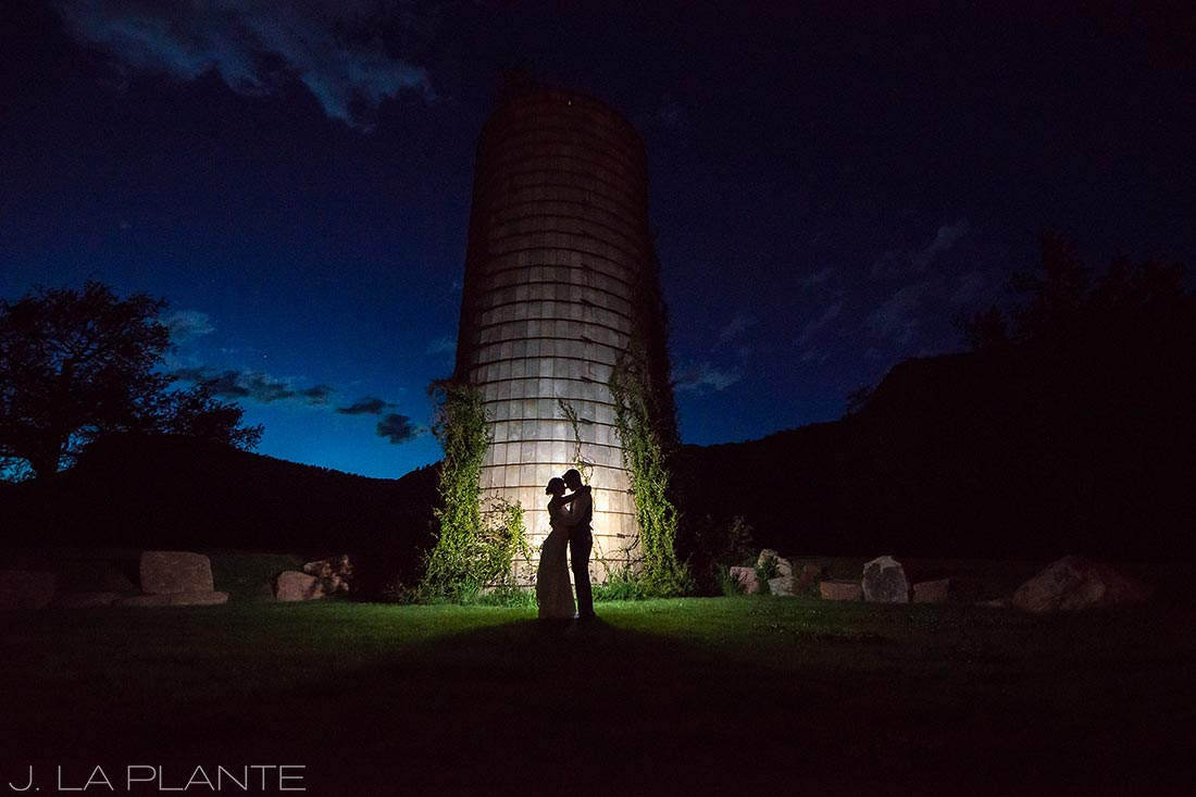 J. LaPlante Photo | Boulder Wedding Photographer | Planet Bluegrass Wedding | Bride and Groom by Silo