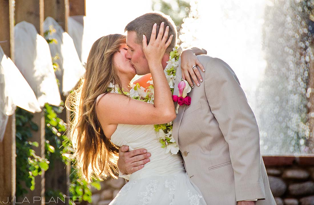 J. La Plante Photo | Denver Wedding Photographer | Hudson Gardens Wedding | The First Kiss