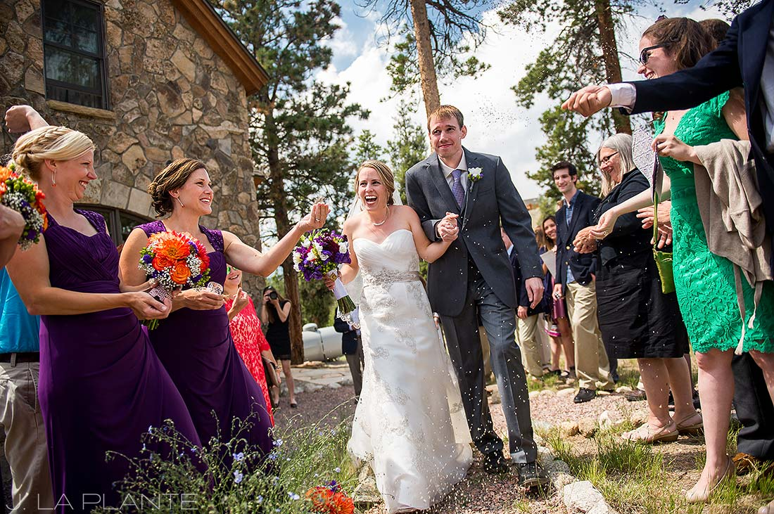 J. La Plante Photo | Rocky Mountain Wedding Photographer | Twin Lakes Colorado Wedding | Bride and Groom Seed Send Off