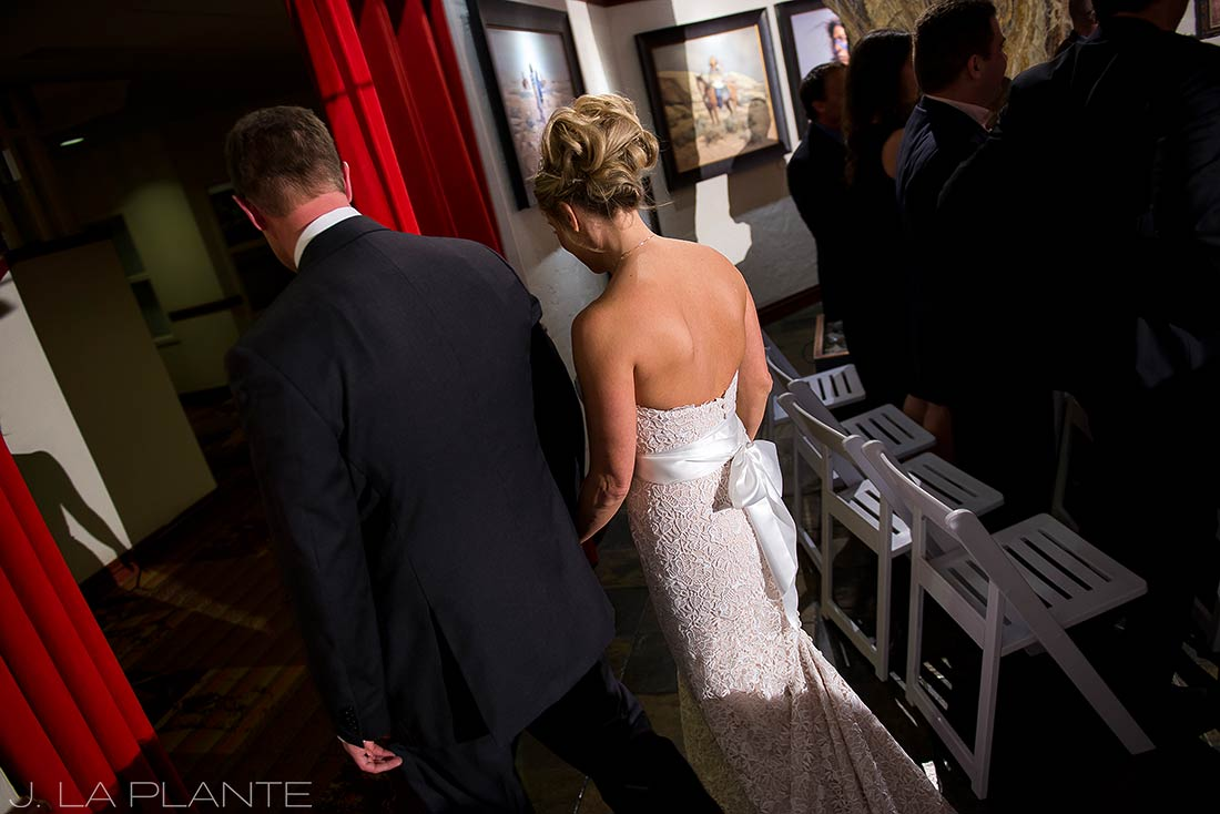 J. La Plante Photo | Rocky Mountain Wedding Photographer | Beaver Creek Lodge Wedding | Bride and Groom Leaving Ceremony