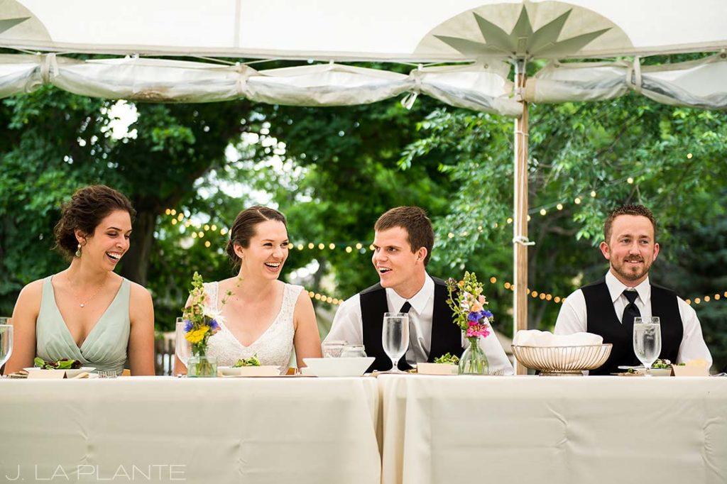 J. LaPlante Photo | Colorado Wedding Photographers | River Bend Wedding | Wedding Toasts