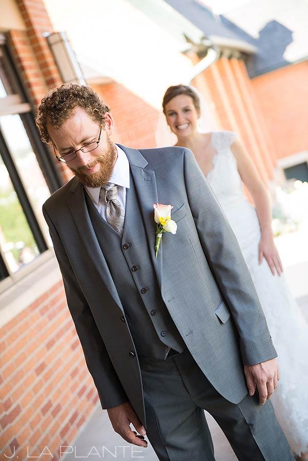 J. La Plante Photo | Denver Wedding Photographer | Golden Colorado Wedding | Bride and Groom First Look