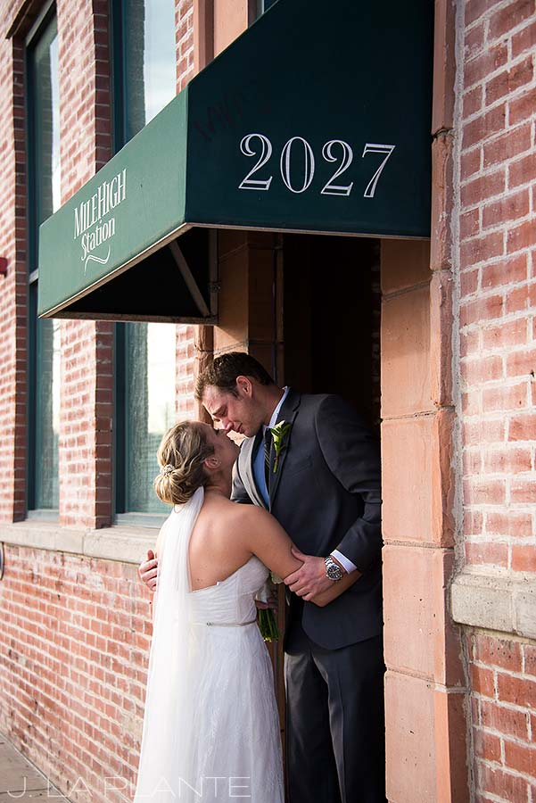 J. La Plante Photo | Denver Wedding Photographer | Mile High Station Wedding | Bride and Groom First Look