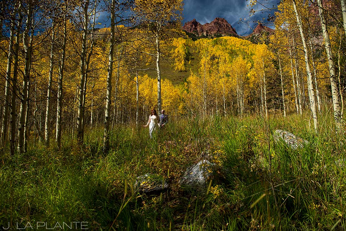 J. La Plante Photo | Aspen Wedding Photographer | Maroon Bells Wedding | Bride and Groom First Look