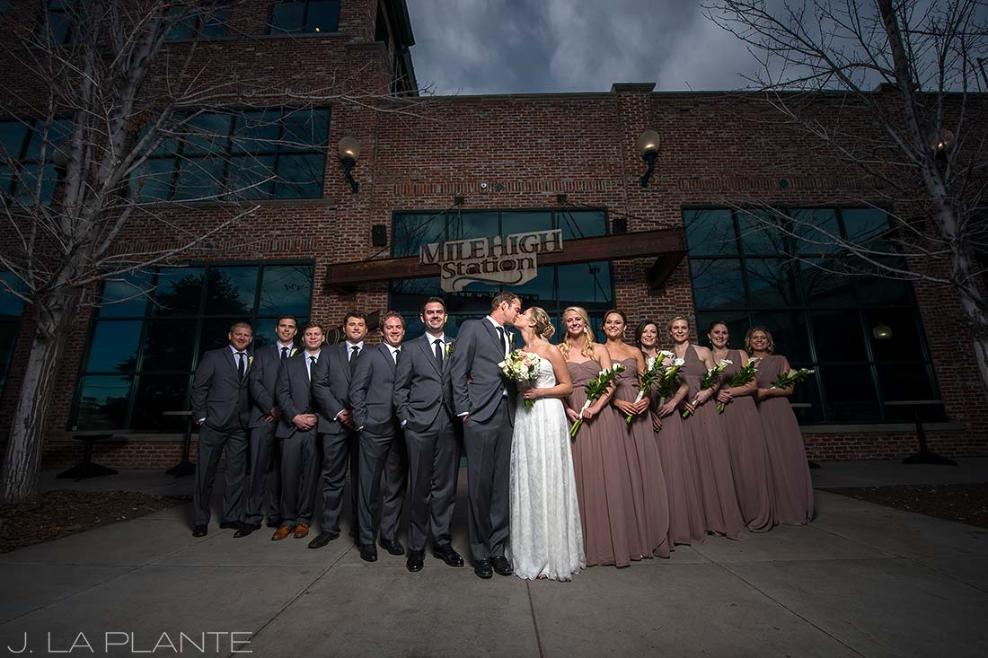 J. La Plante Photo | Denver Wedding Photographer | Mile High Station Wedding | Cool Bridal Party Photo