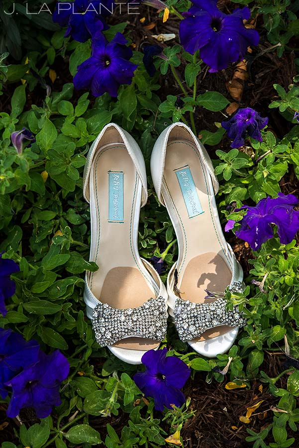 J. La Plante Photo | Boulder Wedding Photographers | Millennium Hotel Wedding | Wedding Shoes Detail Photo