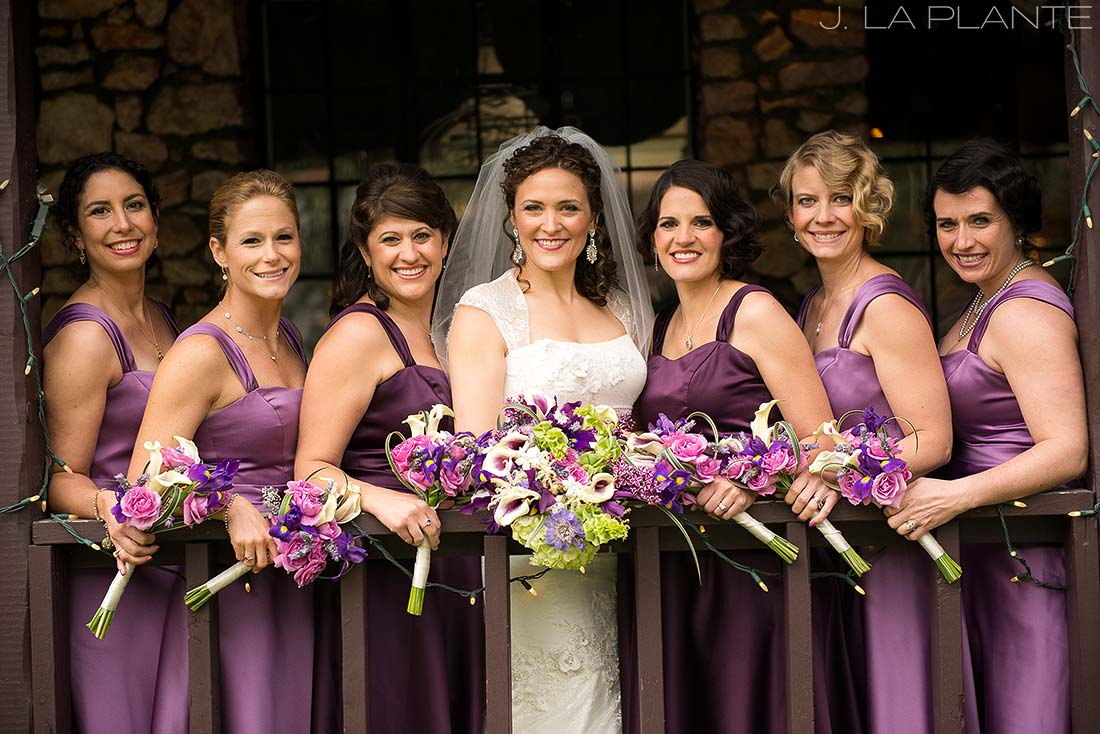 J. La Plante Photo | Evergreen Wedding Photographer | Brook Forest Inn Wedding | Portrait of Bridesmaids