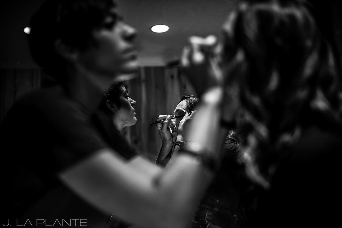 J. LaPlante Photo | Lyons Wedding Photographer | Mon Cheri Wedding | Bridesmaids Doing Makeup
