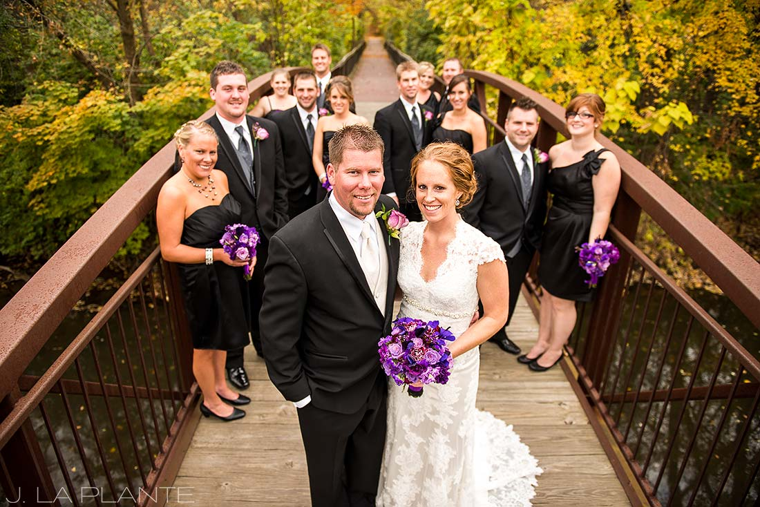 J. La Plante Photo | Adrian Wedding Photographer | Adrian Michigan Wedding | Bridal Party with Fall Foliage