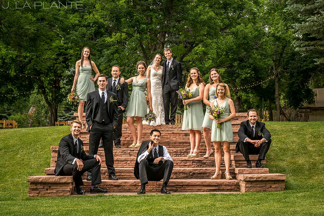 J. La Plante Photo | Colorado Wedding Photographer | River Bend Wedding | Vogue Style Bridal Party Photo