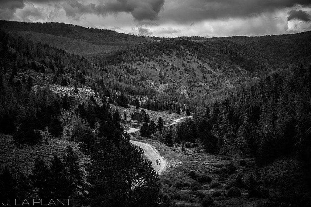 J. La Plante Photo | Granby Wedding Photographer | Shadow Mountain Ranch Wedding | Bride and Groom Hiking