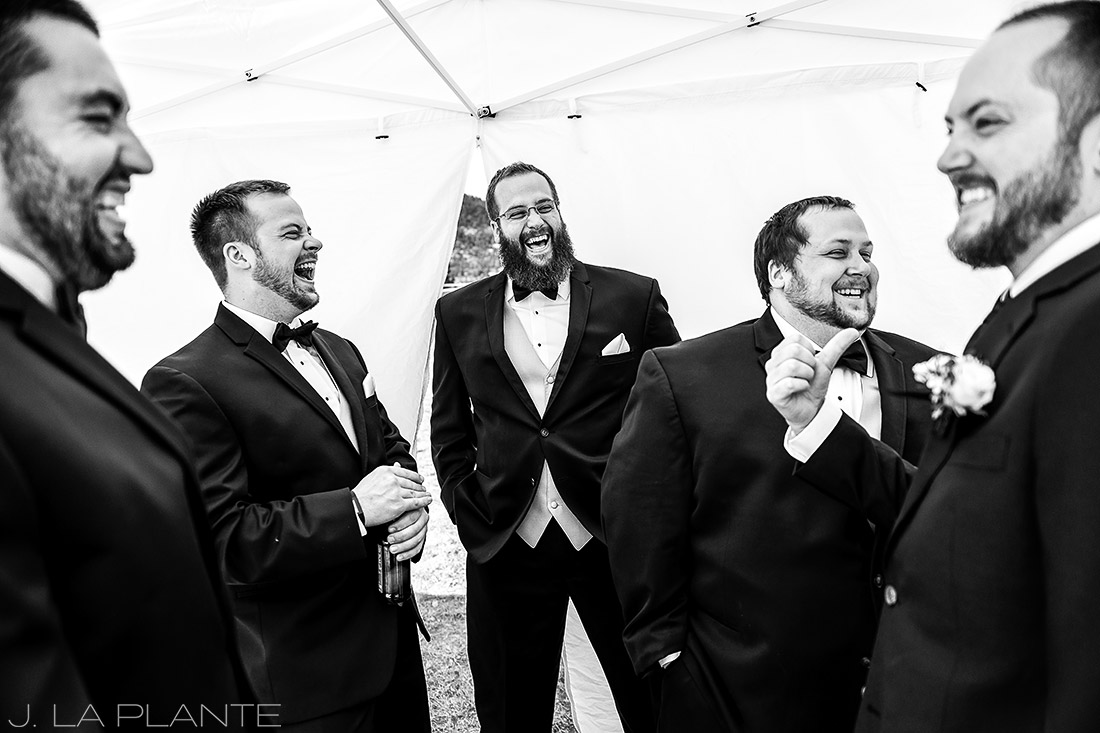 J. LaPlante Photo | Lyons Wedding Photographer | Mon Cheri Wedding | Groomsmen Getting Ready
