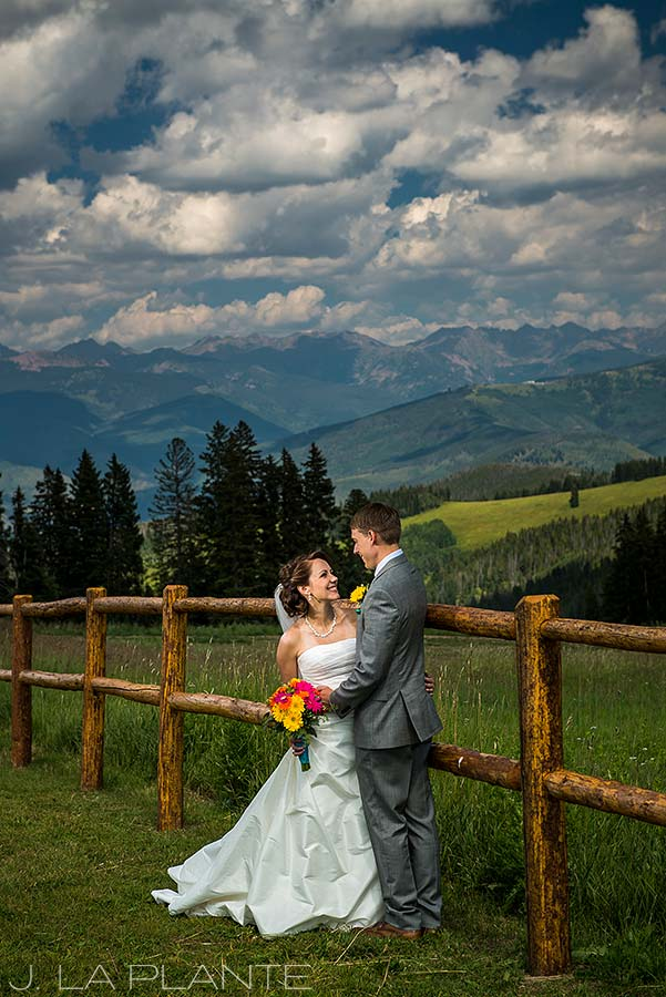 J. La Plante Photo   Beaver Creek Wedding Photographers   Beaver Creek Mountain Wedding   Bride and Groom Mountain Portrait