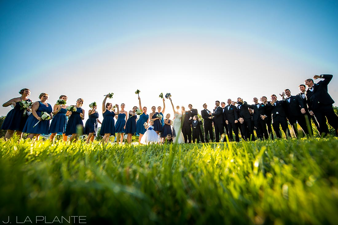 J. La Plante Photo | Denver Wedding Photographer | Chatfield Botanic Gardens Wedding | Large Bridal Party Photo